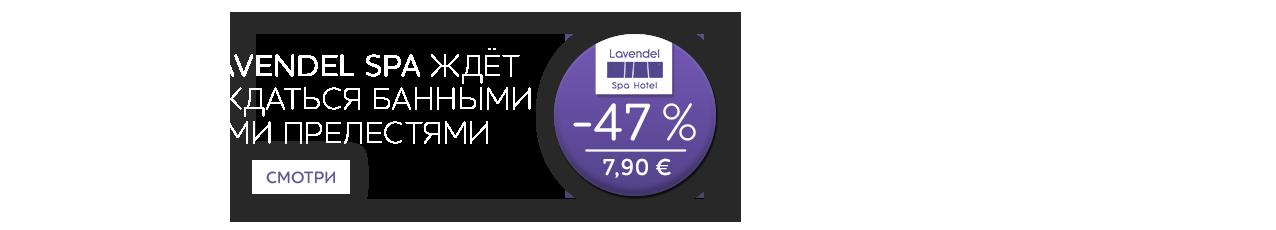 Уютный Lavendel Spa ждёт Вас наслаждаться банными и водными прелестями -47%