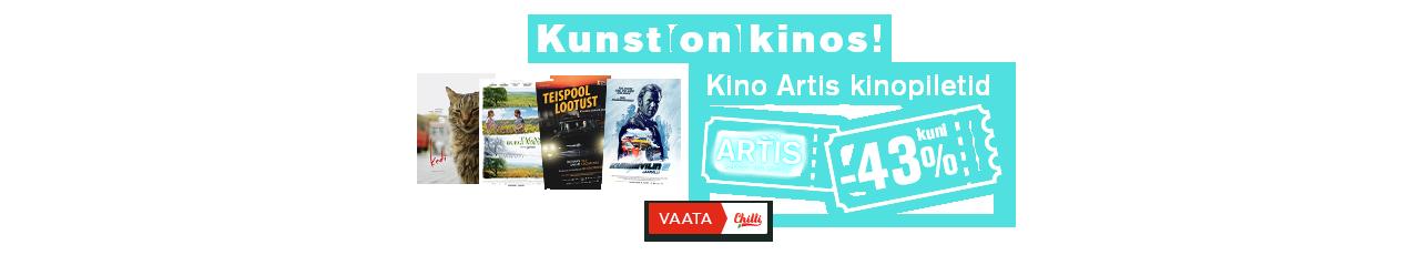 Kino Artis kinopiletid kuni -43%