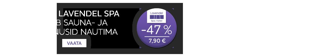 Hubane Lavendel Spa ootab sauna- ja veemõnusid nautima -47%
