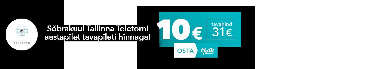Sõbrakuul Tallinna Teletorni aastapilet tavapileti hinnaga!