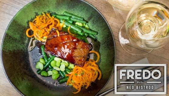 28dde21822d 3-käiguline õhtusöök kahele põhjamaiselt trendikas restoranis Fredo WoHo  Neo Bistroo