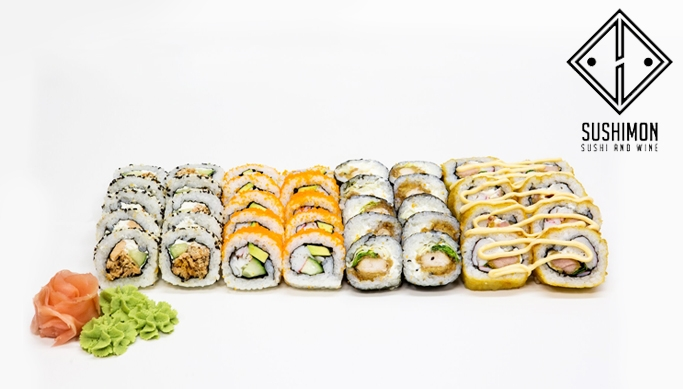cb2b3a4fba7 38-st makitükist koosnev sushikomplekt Sushimon Sushi and Wine'ilt -40%